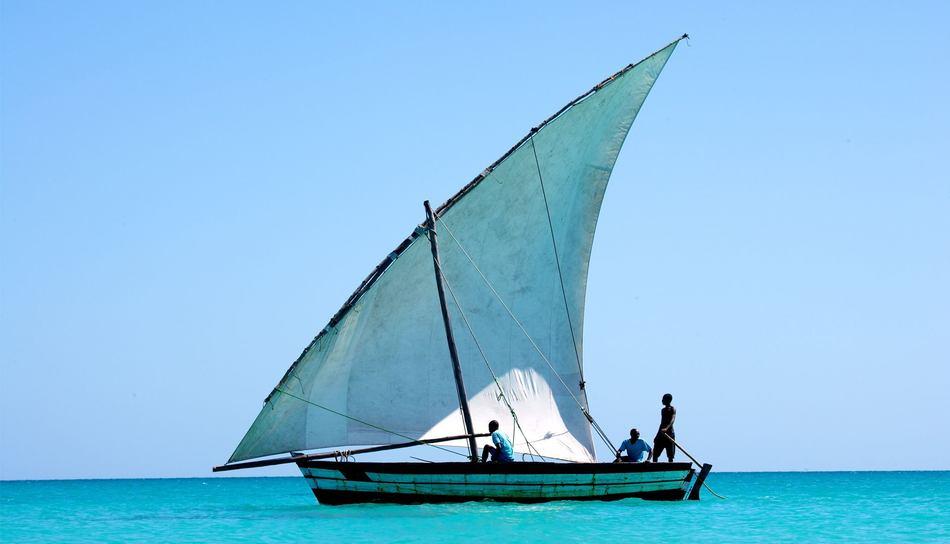 Bateau de pêcheurs au large des côtes africaines