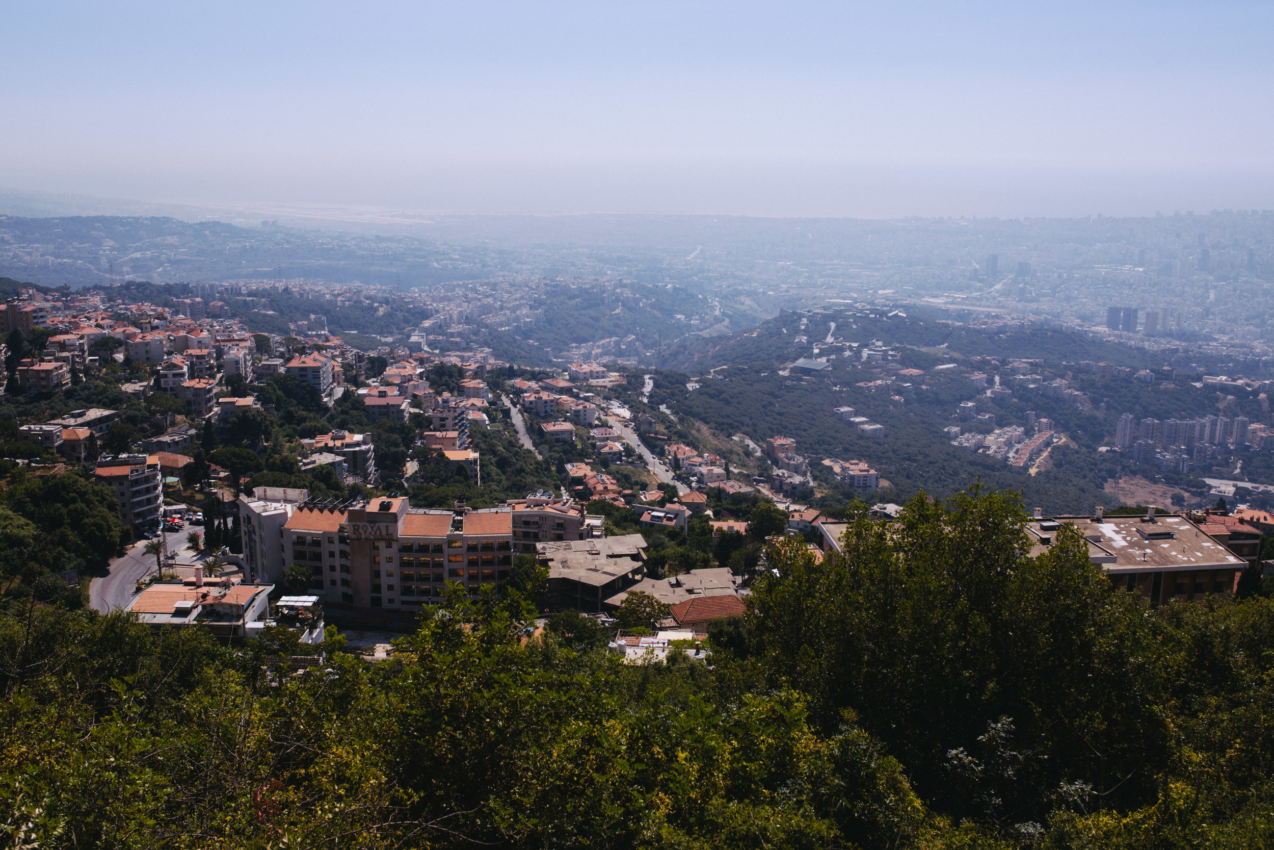 The view from the hills above Beirut.