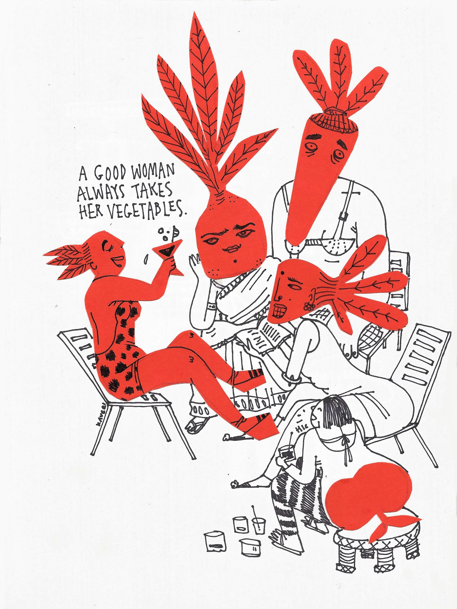 Kaveri Gopalakrishnan's  Misfits  is a series of standalone short comics offering a humorous insight into the societal expectations that are placed on women's bodies and appearances.