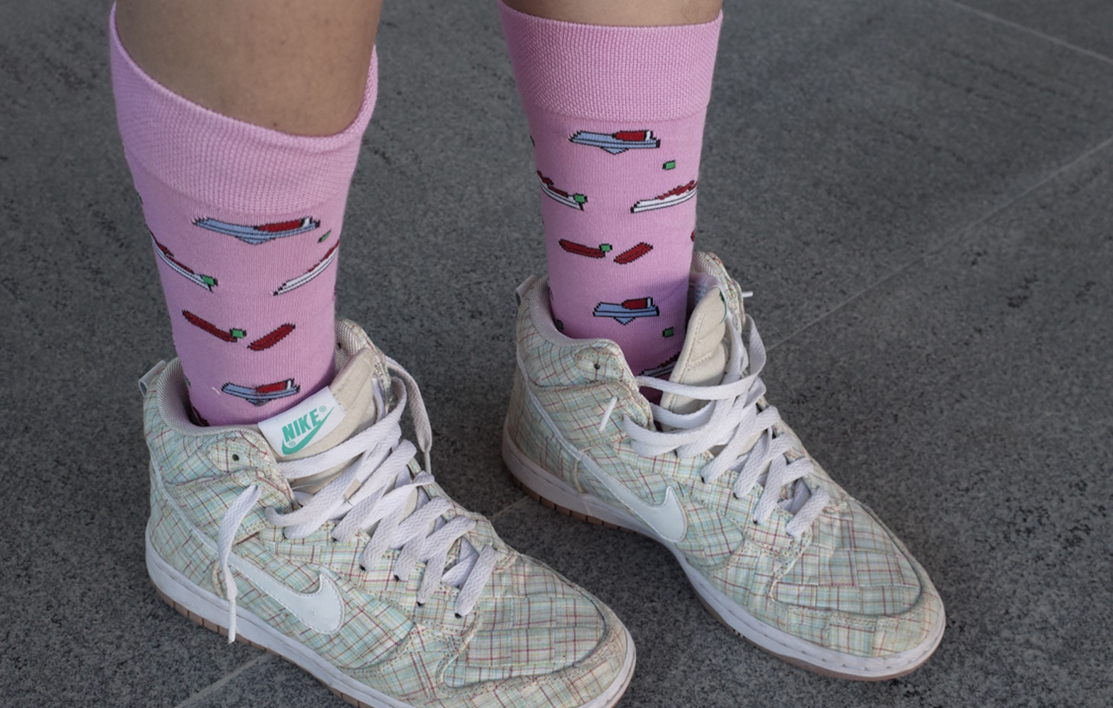 festival socks from the goodie bag