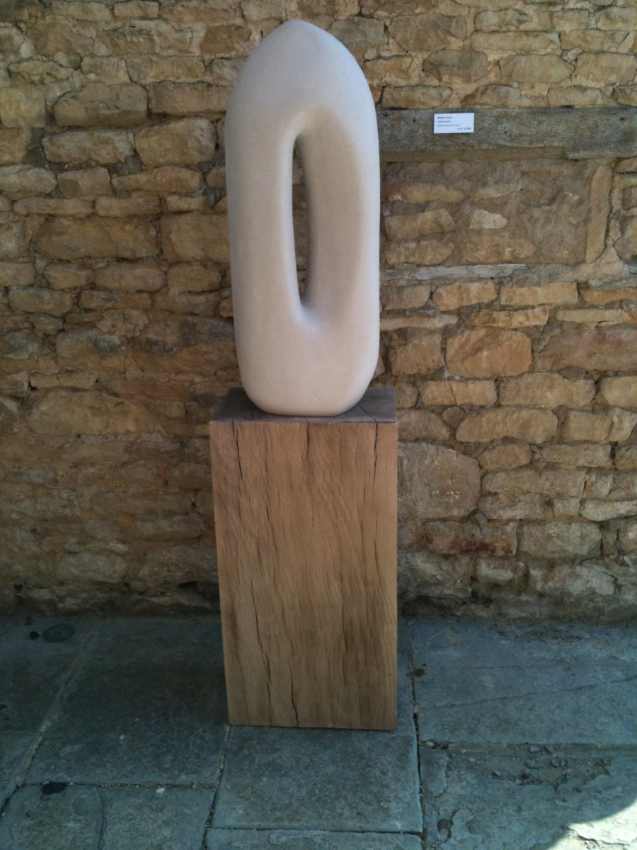 Gentle Stone On Oak Plinth
