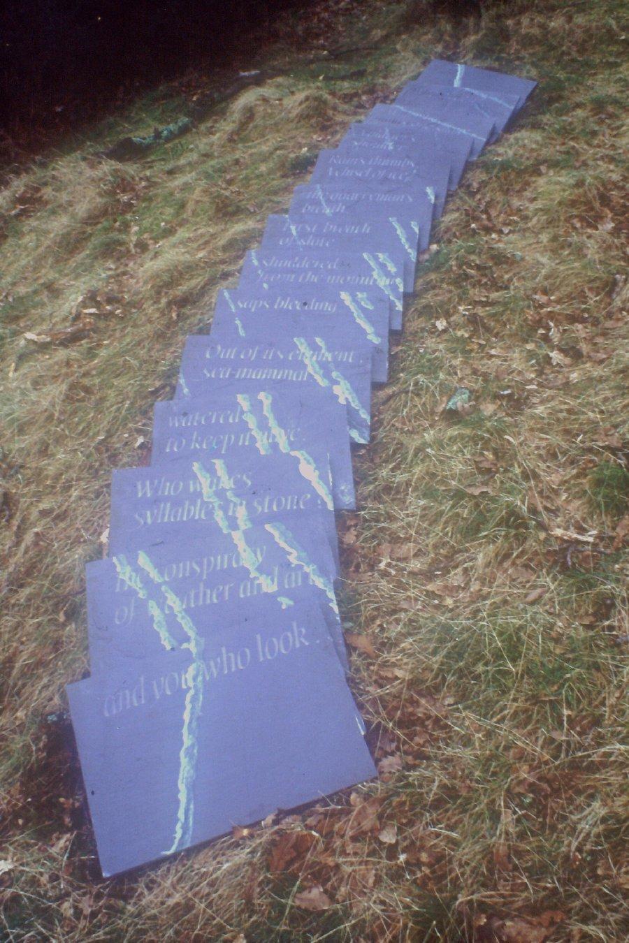 Slate Book with poet Gillian Clarke