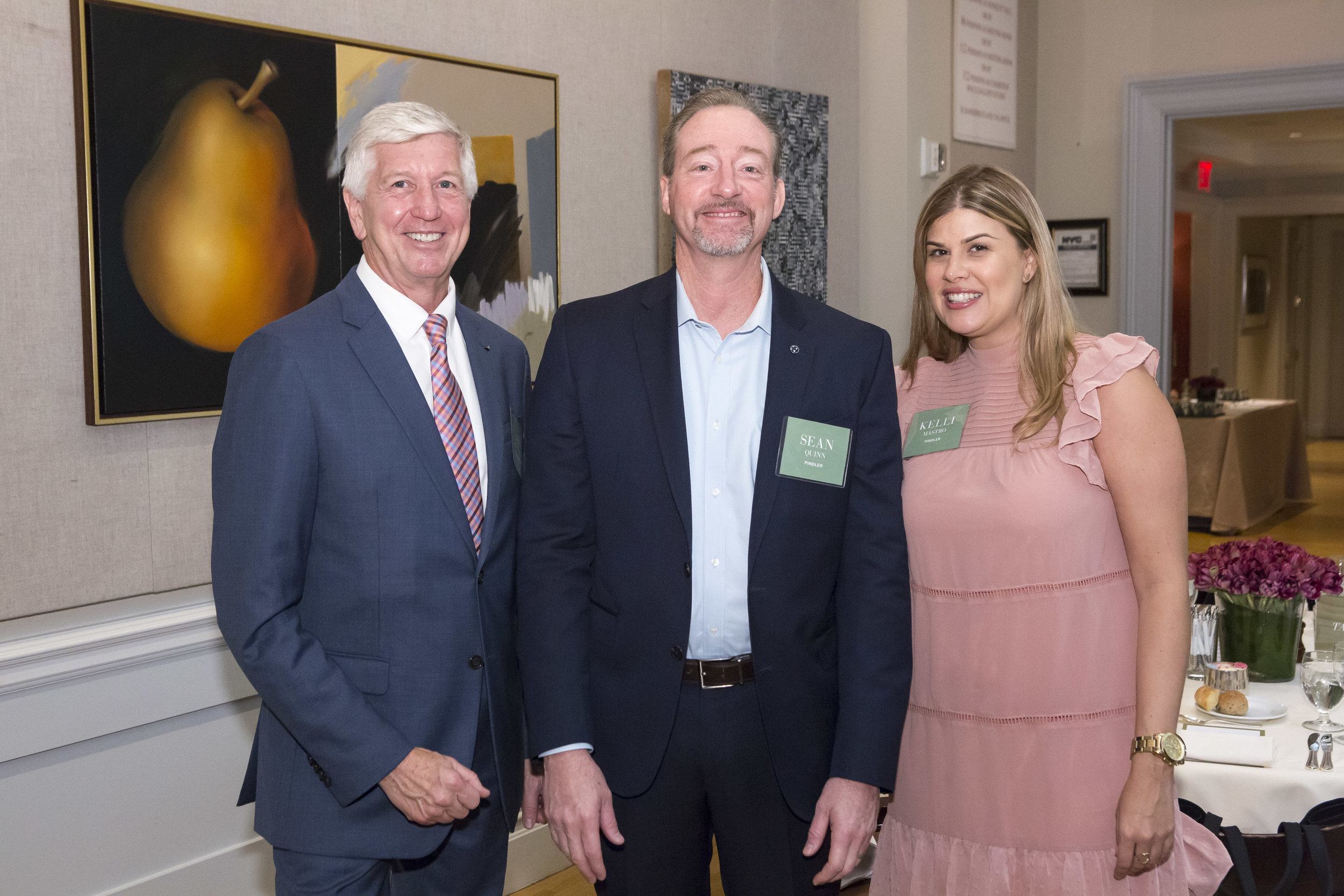 Benjamin Moore's Carl Minchew, and Pindler's Sean Quinn, and Kelli Mastro