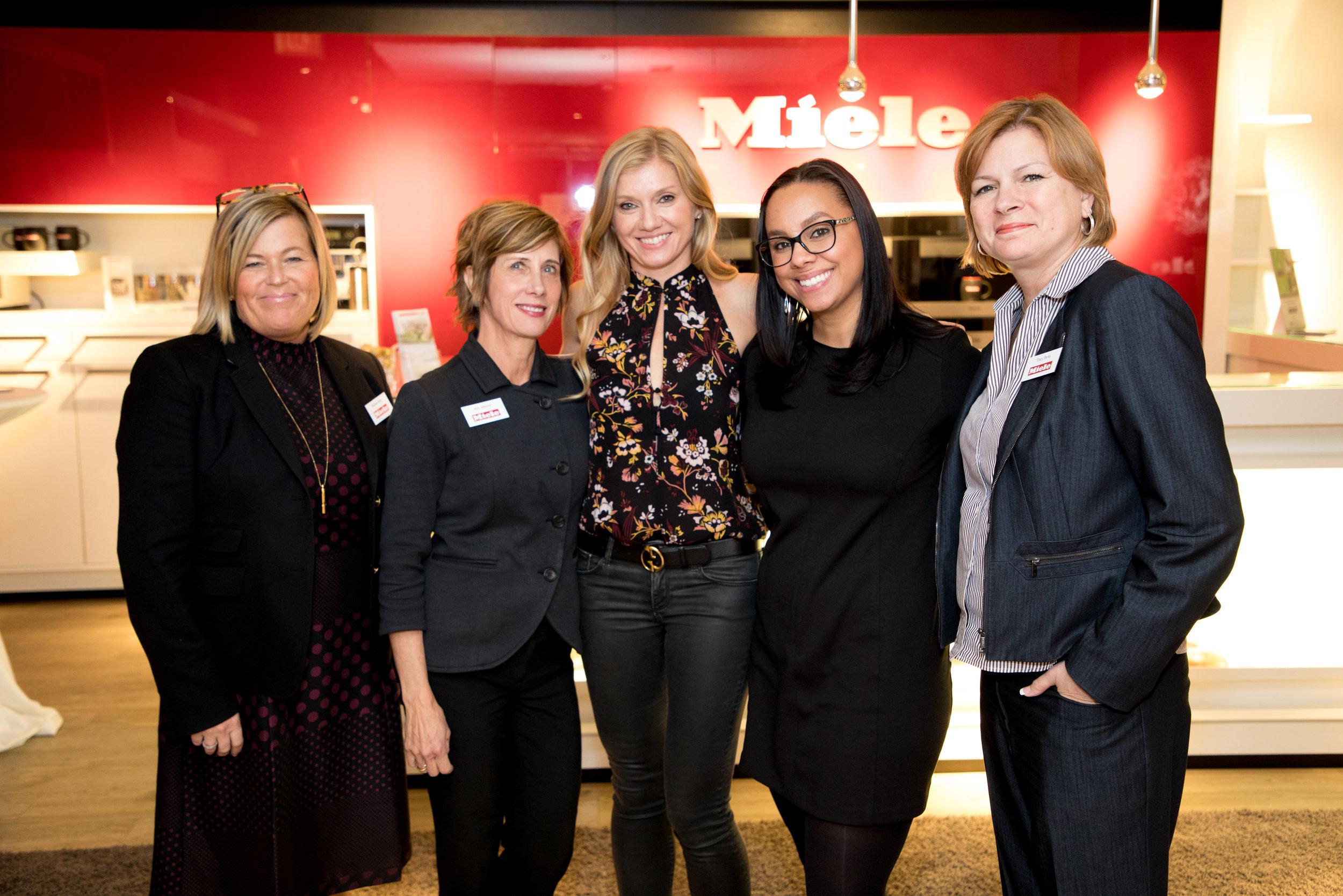 The Miele Team: Michele Ahern, Kim Alterini, Ohara Davies-Gaetano, Monique Robinson and Tracy Parks