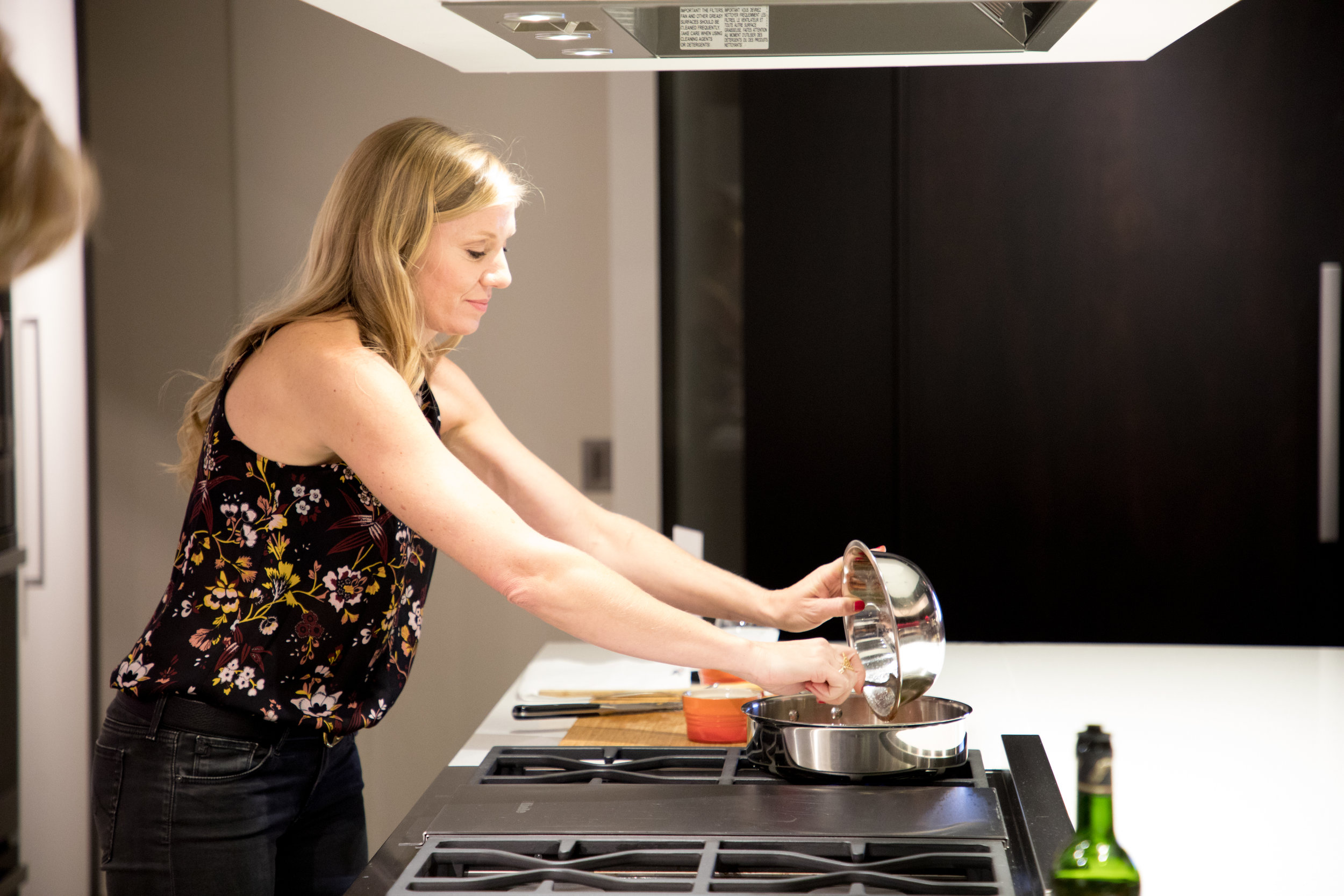 Ohara Davies-Gaetano during the cooking demonstration