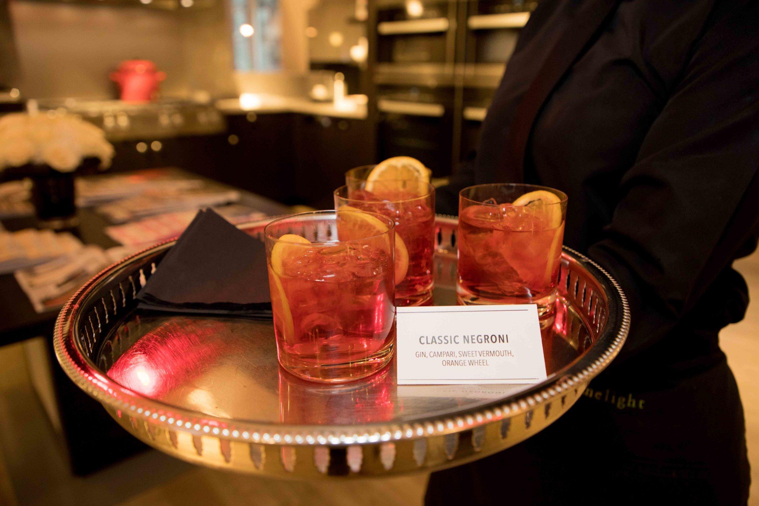 Signature Negroni cocktail