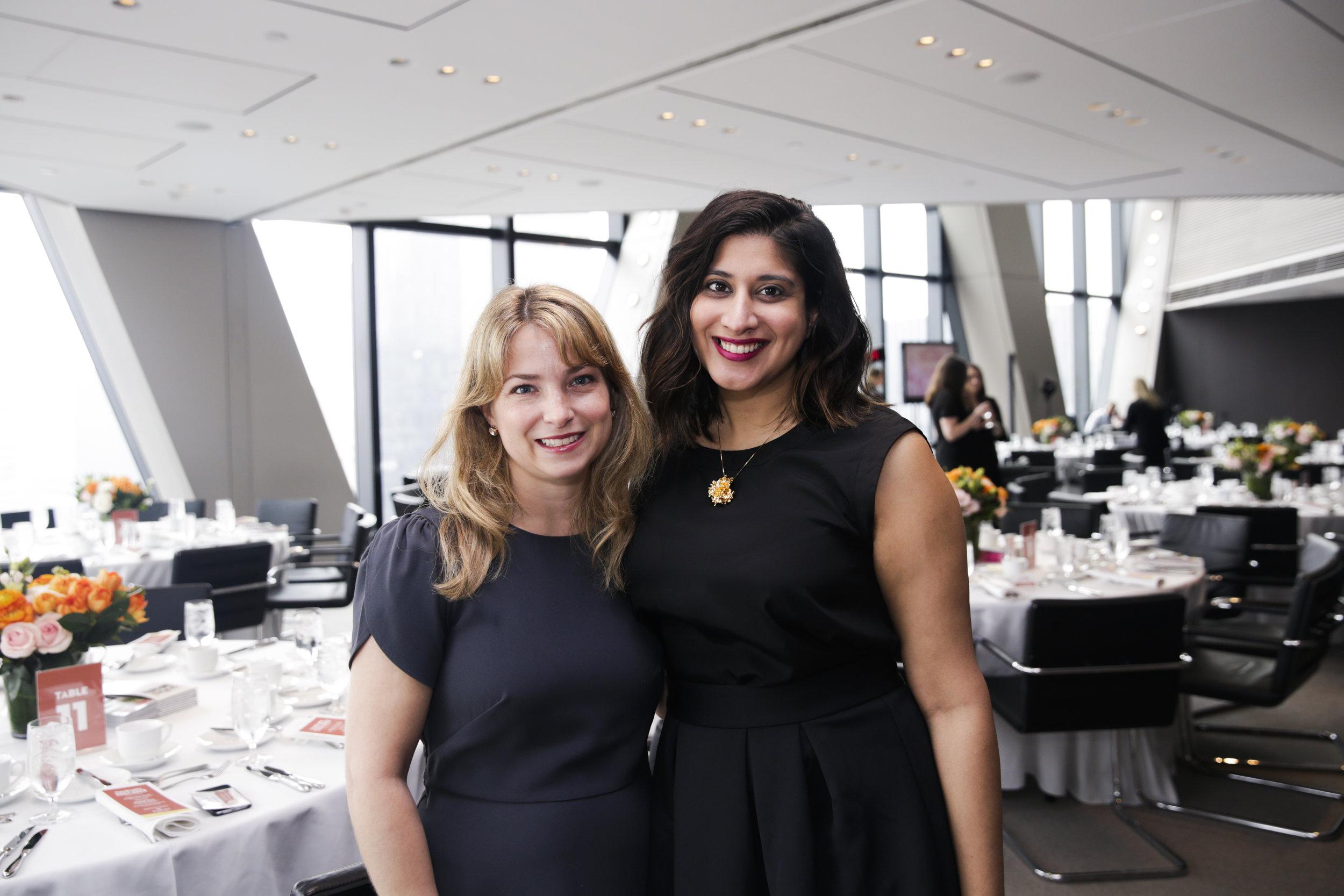 Next Wave Designer honorees Anne Chessin and Tina Ramchandani