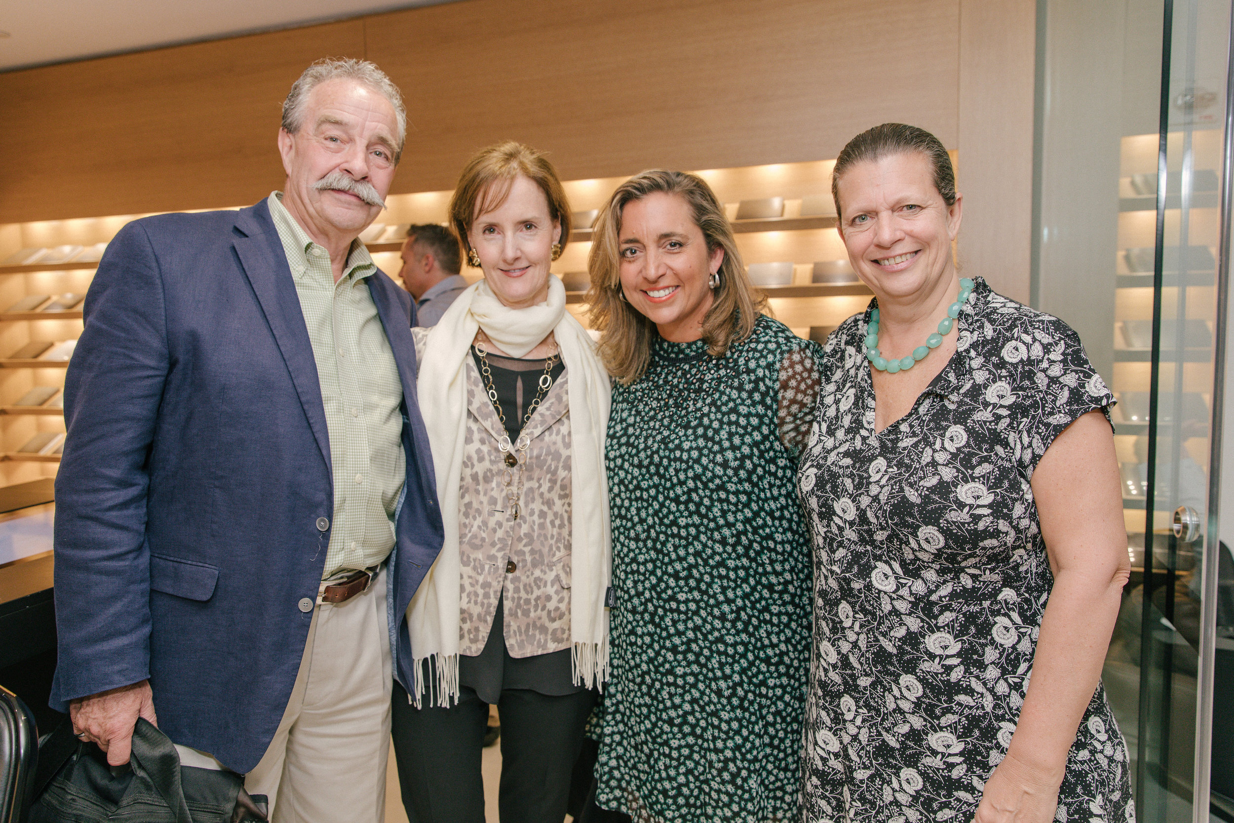 Michael Devonshire, Veranda's Kate Kelly Smith, Cosentino's Patty Dominguez, and Veranda's Lisa Lachowetz