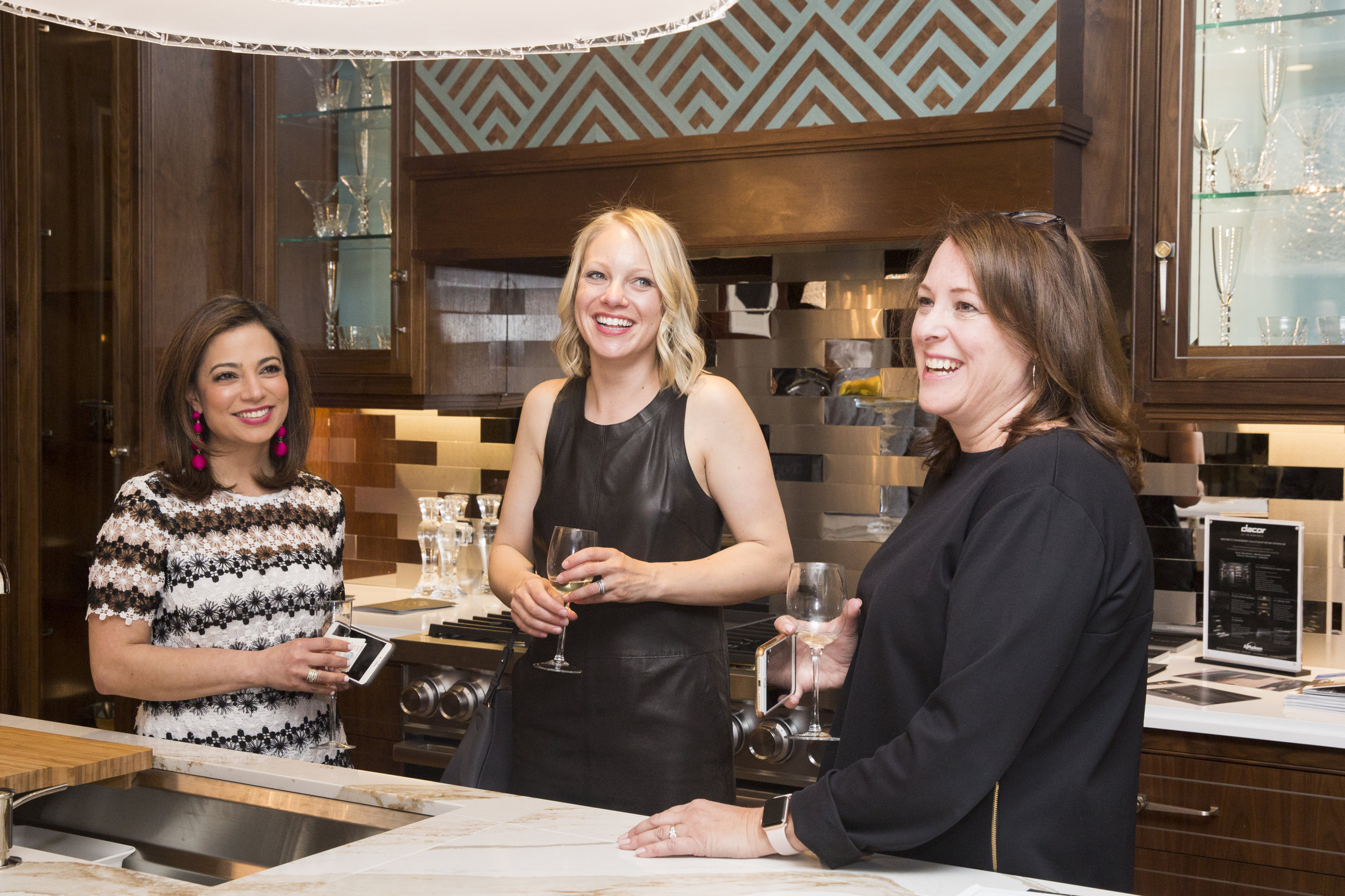 Nazira Handal of Kips Bay with Kohler's Betsy Froelich, and Beth Bouck