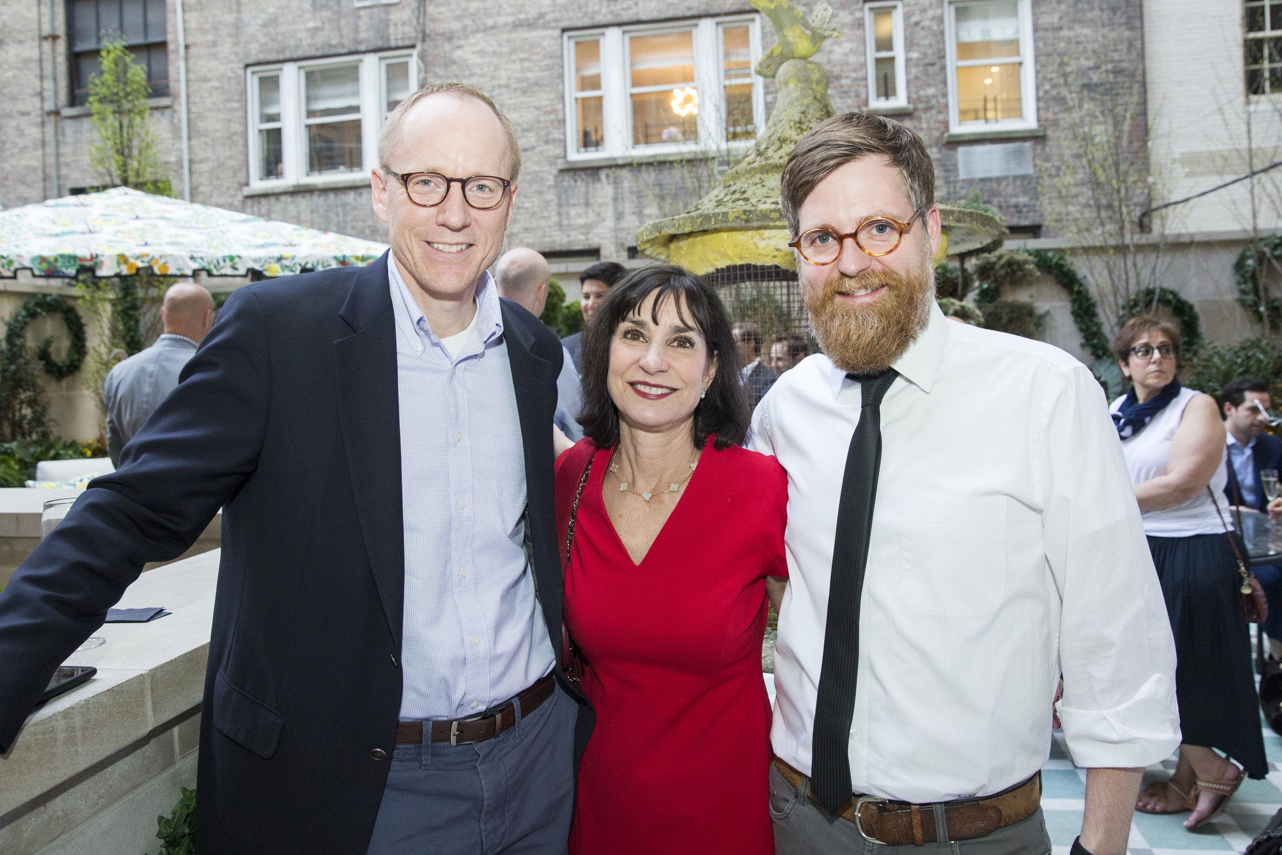 House Beautiful's Brenda Saget (center), with Kohler's John Engberg (left), and Camm Rowland (right)