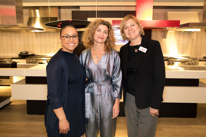 Miele's Monique Robinson and Tracy Parks, with Jordana Joseph (center)