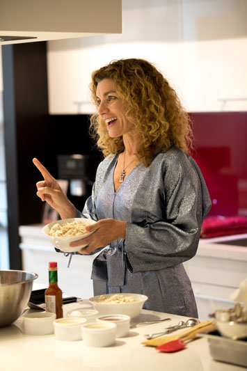 Jordana Joseph gives a cooking demonstration.