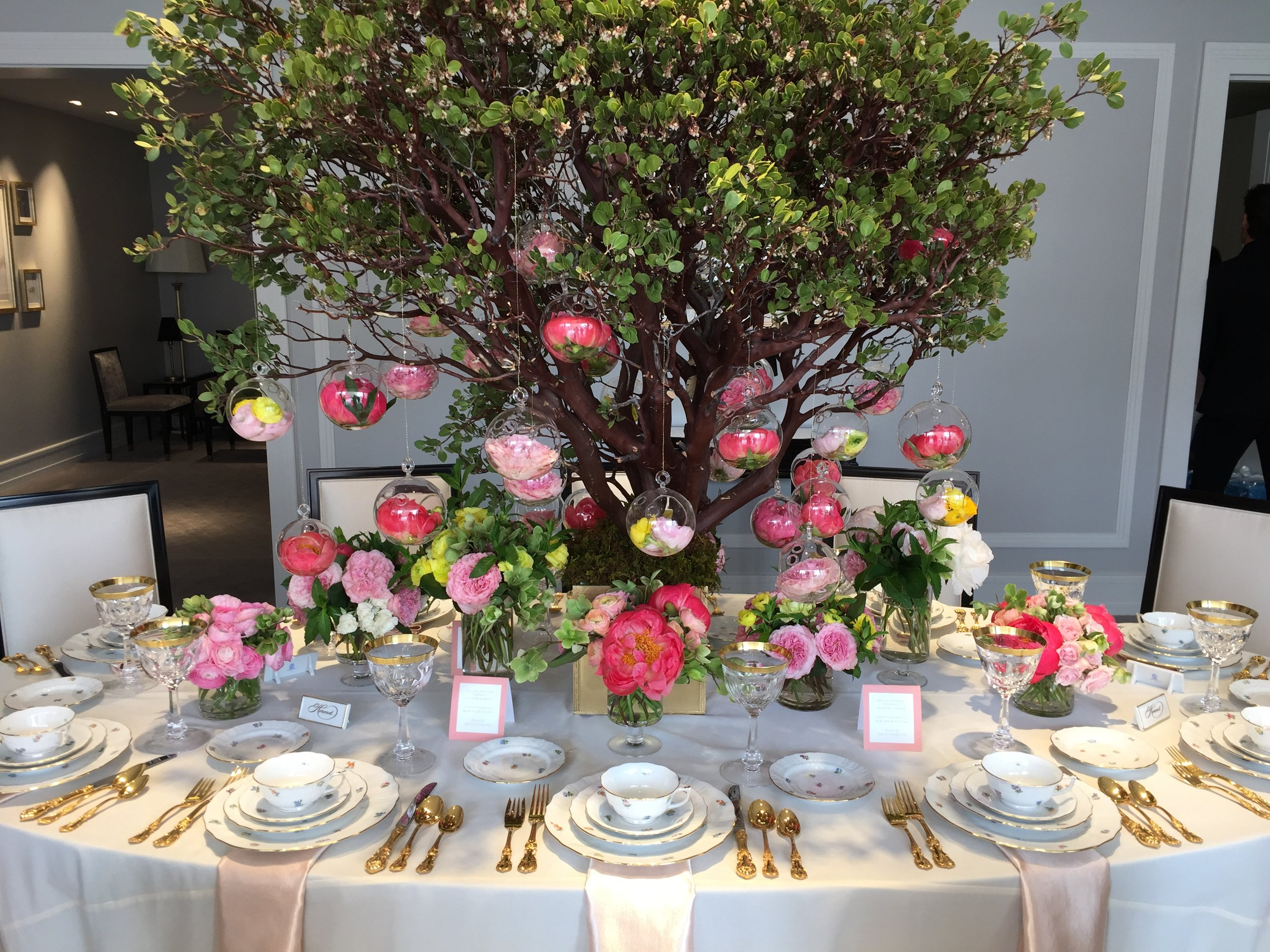 Gorgeous tablescape celebrating the  Bouquet Collection