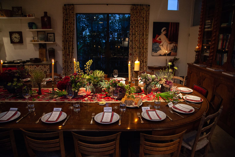 Forty guests enjoyed a seated dinner