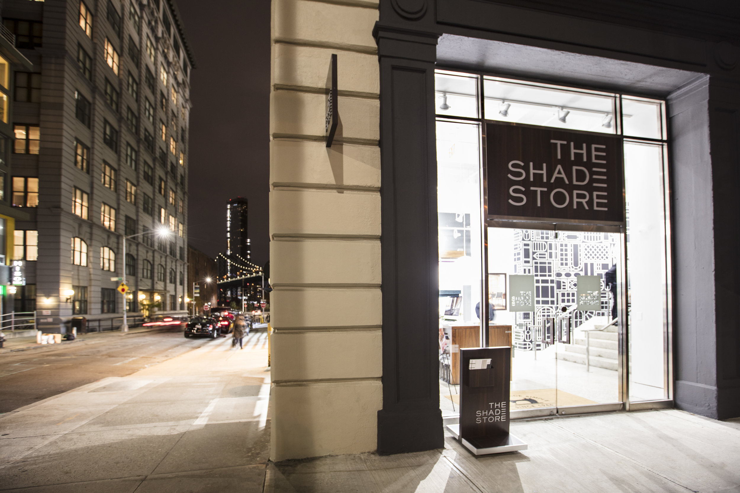 The Shade Store showroom in Dumbo