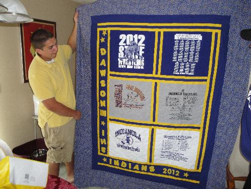 Graduation Quilt for a State Wrestler