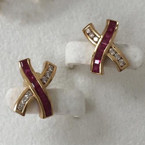 Older-style ruby jewellery