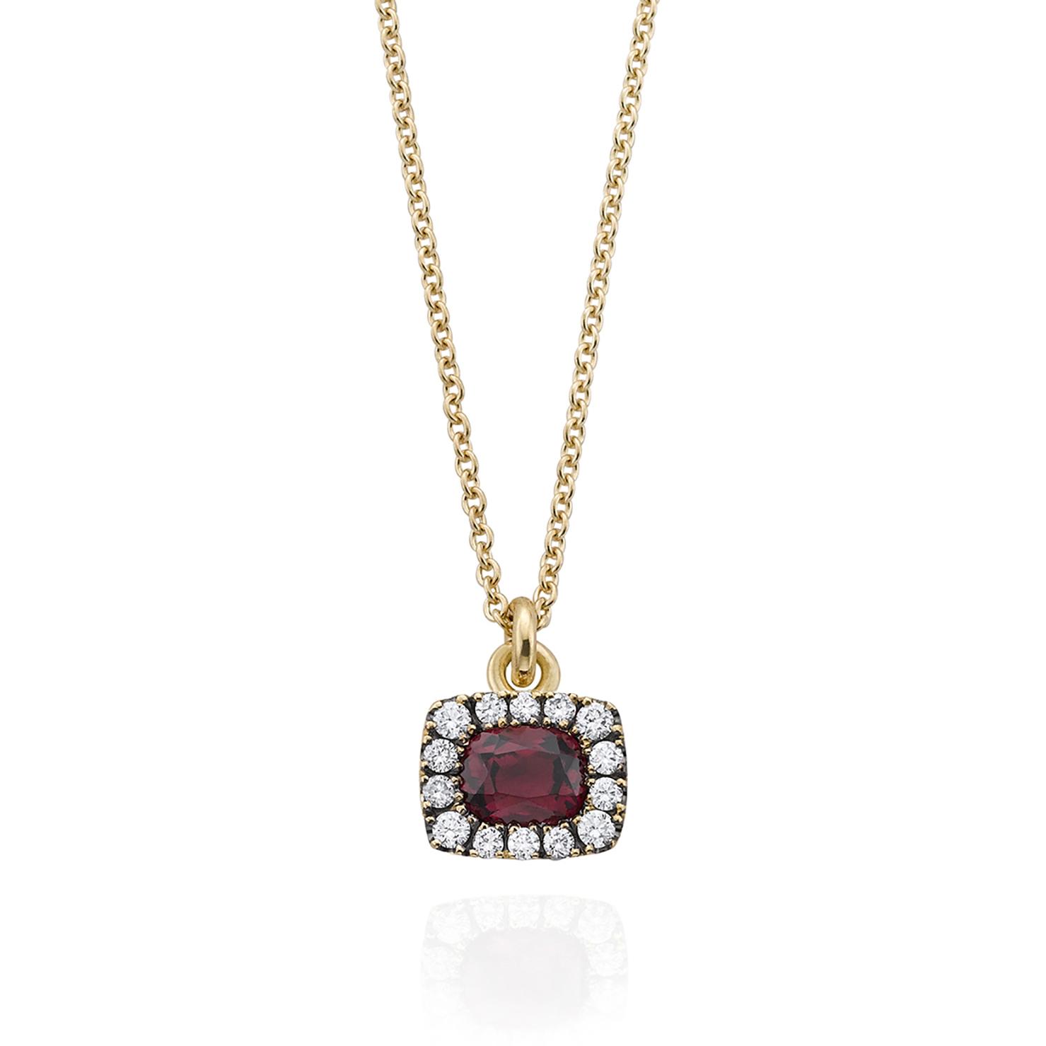 Original centre stone reset with diamonds