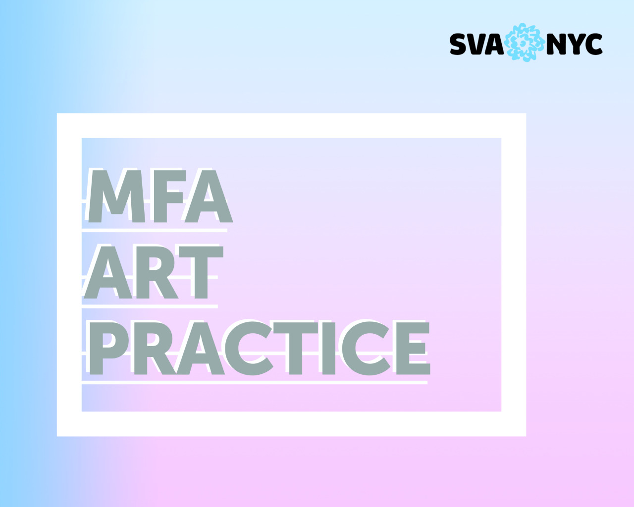 MFA Art Practice will be hosting an online information session tonight, November 17th, at 6:30pm EST! Follow the   link   to the session to hear all about our program, goals, and facilities from our Chair  David Ross , Director of Operations and Faculty Member  Jacquelyn Strycker , Faculty Member  Robin Winters , and current participant  Sarah Grass . See you there!