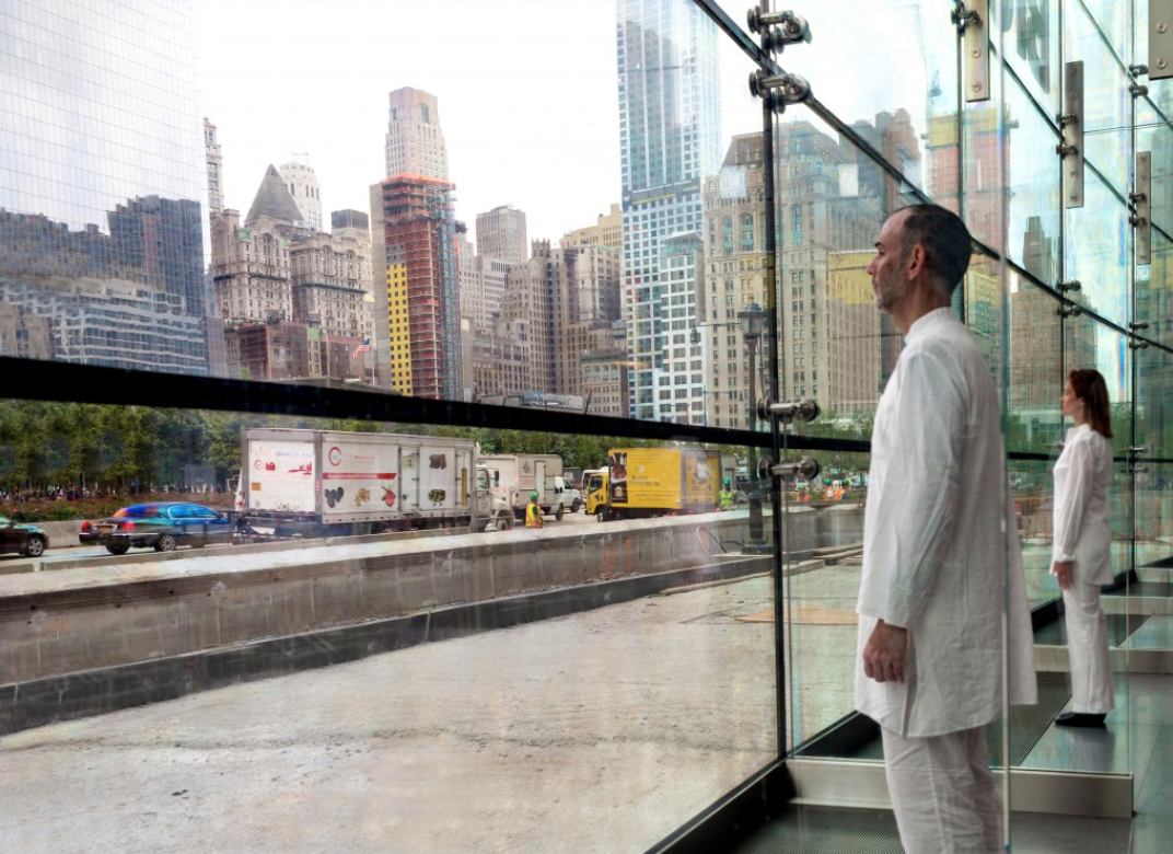 From 9:00AM - 5:00PM today through Wednesday, October 28th, Ernesto Pujol  (AP Faculty) pays homage to office workers in a site specific performance,  9-5 , commissioned by More Art at  Brookfield Place on West Street in Manhattan.