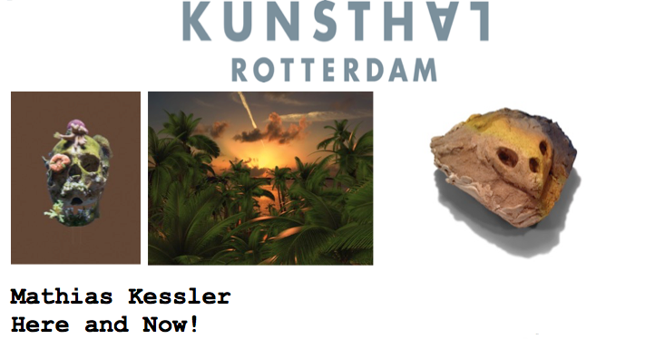 Mathias Kessler  (MFA AP13) willpresent his first solo exhibition in the Netherlands with   Here and Now! at the  Kunsthal Rotterdam. The work of Kessler is a study of the (historical) relationship between man and nature.The opening reception will be accompanied by a brief talk and book presentation with the artist.Opening Reception: September 12, 5:30 pm.
