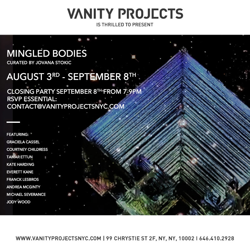 "Kate Harding  (MFA AP14) and  Michael Severance  (MFA AP13) will be featured in ""Mingled Bodies,"" a video exhibition screening in  Vanity Projects , a ""high end nail atelier with video art programming"" curated by  Jovana Stokic  (MFA Faculty) The show is on view currently by appointment only, and a closing reception will be on Tuesday, September 9th, 7-9pm."