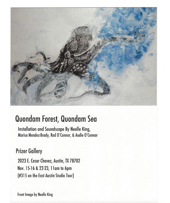 Noelle King  (MFA AP13) is showing with her two sons at  Prizer Gallery  for  Quondam forest, Quondam Sea.  Check it out!