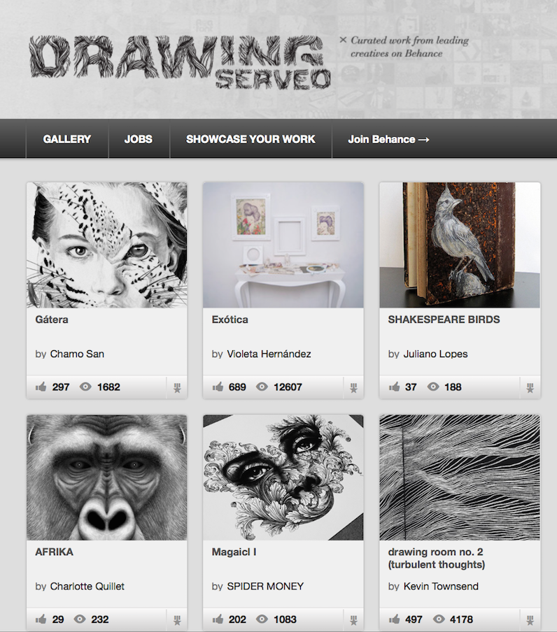 Check out the work of  Kevin Townsend  (MFA AP16) on the homepage of  Drawing Served , a curated online gallery under the platform  Behance .