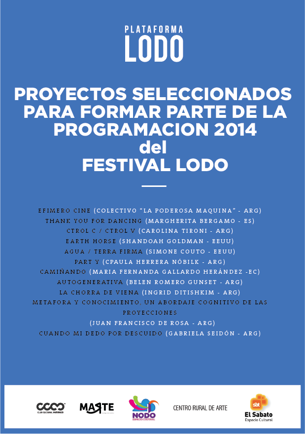 """Simone Couto  (MFA AP14) will be showing with the Matienzo Cultural Club inBuenos Aires, Argentina with her piece """"Aqua/Terra Firma"""" for the LODO Festival. Keep up with their  Facebook page  to view pictures of the event!"""