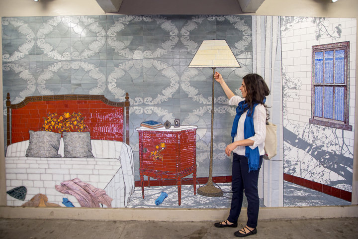 Chase Collum writes about  Laura F. Gibellini's (AP Faculty) new MTA installation for   The Glendale Register  .