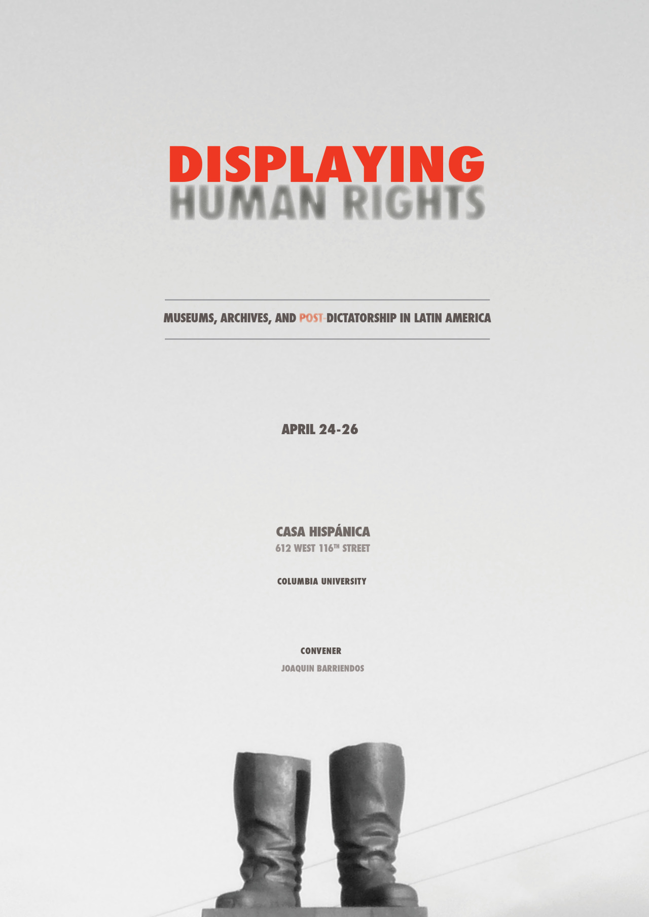 """CeciliaVicuña  (AP Mentor) will be speaking at the """" Displaying Human Rights: Museums, Archives and Post Dictatorship in Latin America"""" Conference  at CasaHispánica, Columbia University on Saturday, April 26th."""