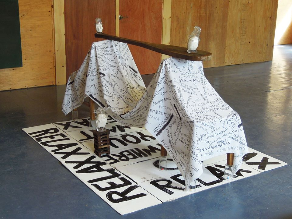 """A new work by  Robin Winters  (AP Faculty), included in the  """"Ghosts of the Catskills""""  exhibition organized by Elizabeth Ennis and Andrea Brown of The Outsider's Studio Collective   The show is on view at the Catskill Art Society Arts Center through October 6th"""