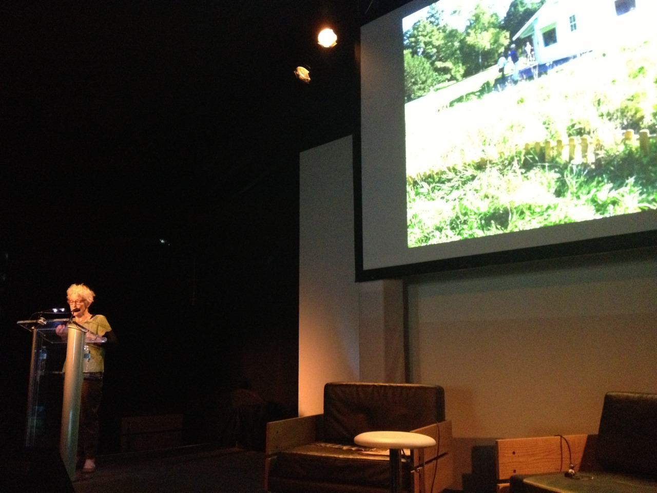 Joan Jonas  (Art Practice Mentor) lecturing at the Frieze Art fair this weekend