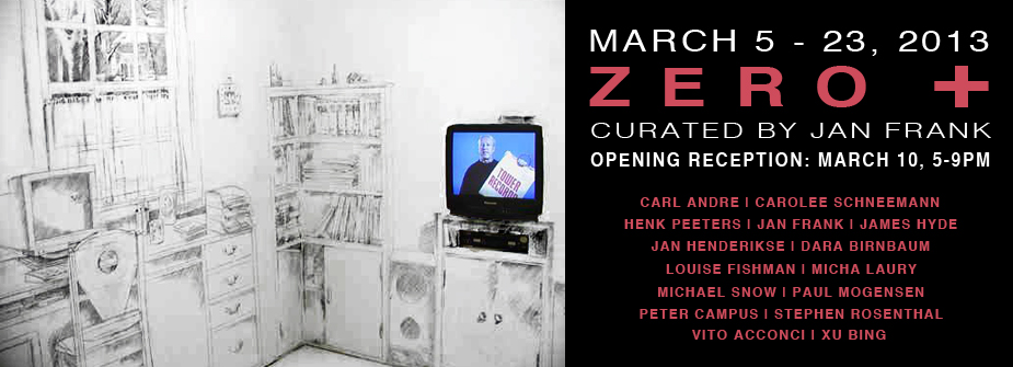 Art Practice faculty member Dara Birnbaum is in the group show  Zero +  at  White Box.