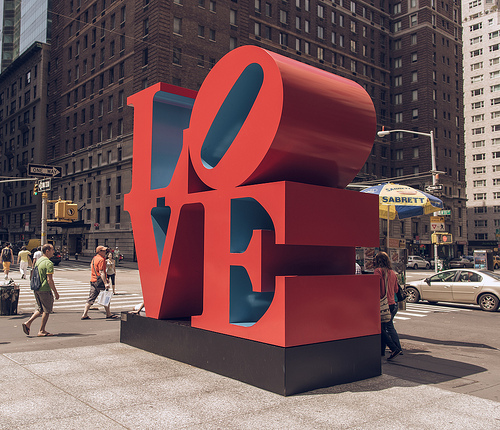 Some people like to paint trees. I like to paint love.    —Robert Indiana