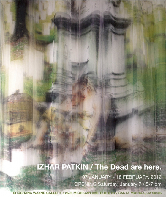 MFA Art Practice mentor and visiting artist Izhar Patkin's show at  Shoshana Wayne Gallery  in Santa Monica is opening this Saturday, January 7.