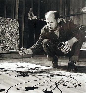 Jackson Pollock in his studio.     Martha Rosler writes for    e-flux journal     about art and urbanism.   Rosler is a visiting artist for the MFA Art Practice program.