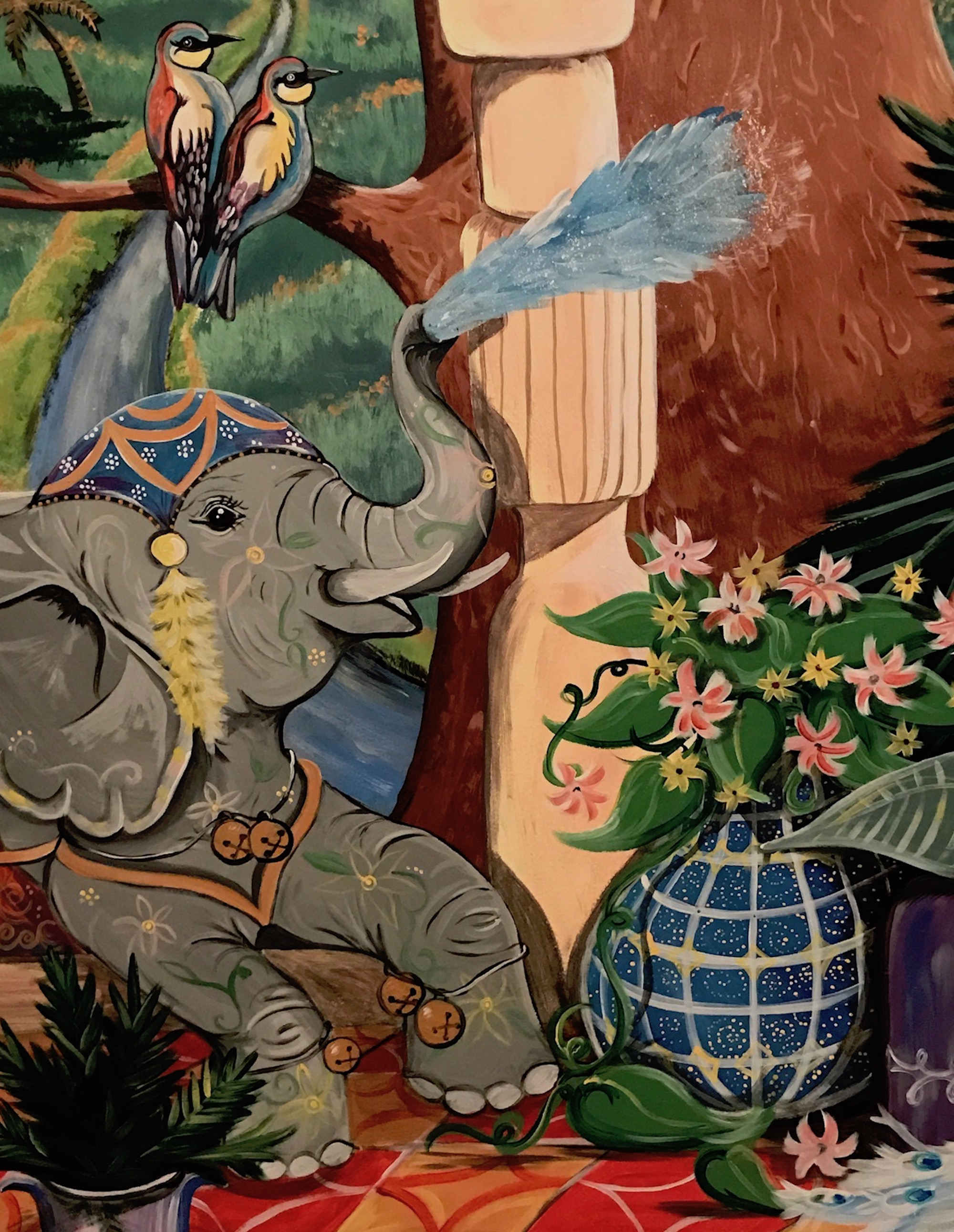 detail of commissioned mural painted by SAS owner and artist Samantha Silvas.