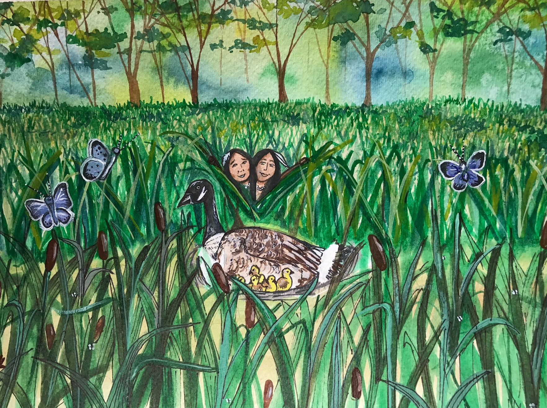Illustration for  Kisses on the Wind  by Meg Kappel by artist and SASLLC owner Samantha Silvas