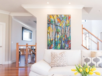 Created by SASLLC artist and owner Samantha Silvas. Photo by Colleen Patel Photography. Space designed by Kimberly Popp Design Company.