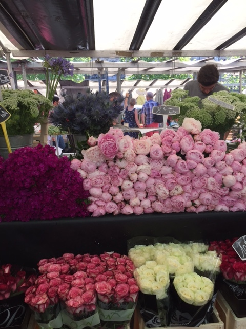 perfect peonies at the open air market