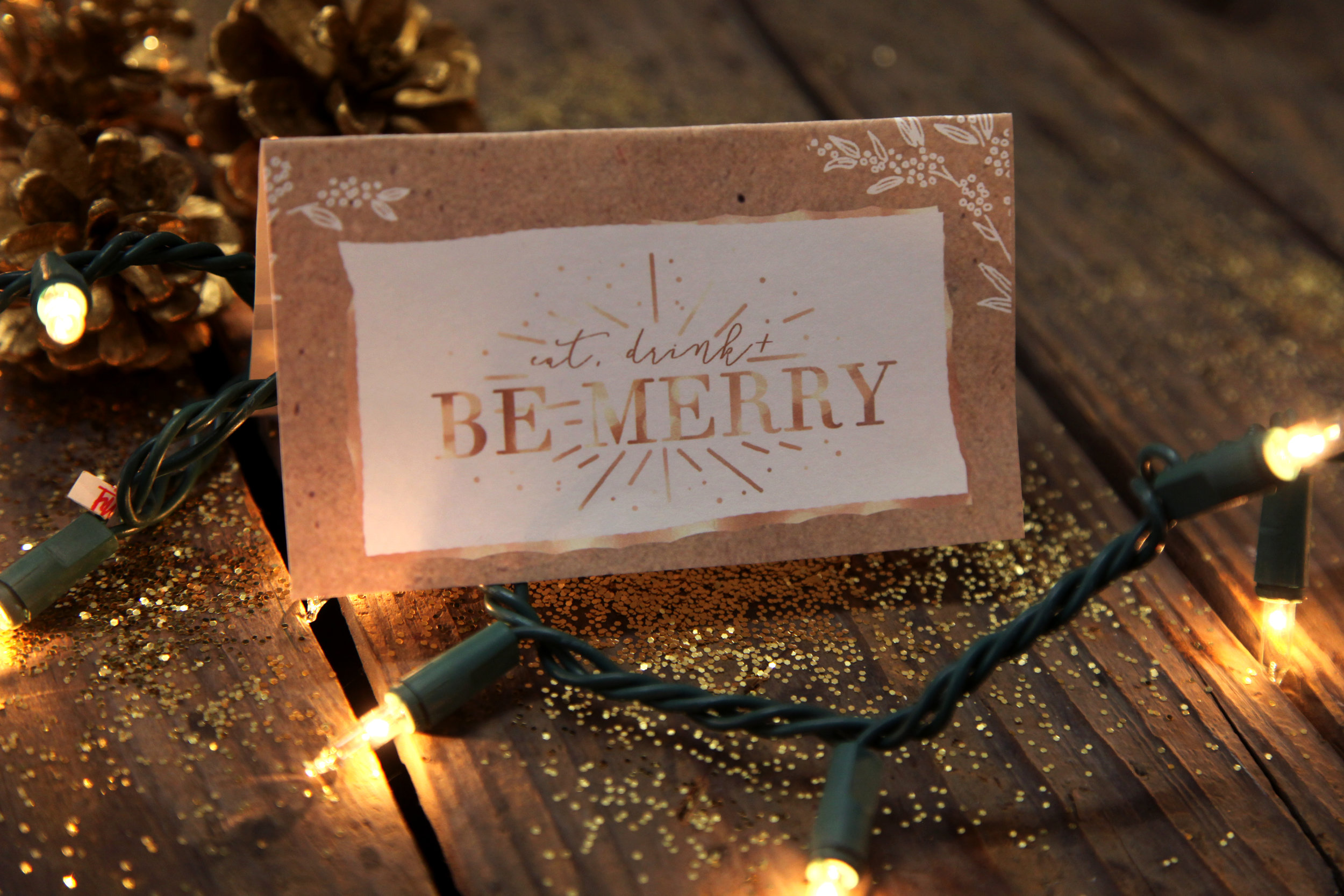 """Be Merry"" Card Download"