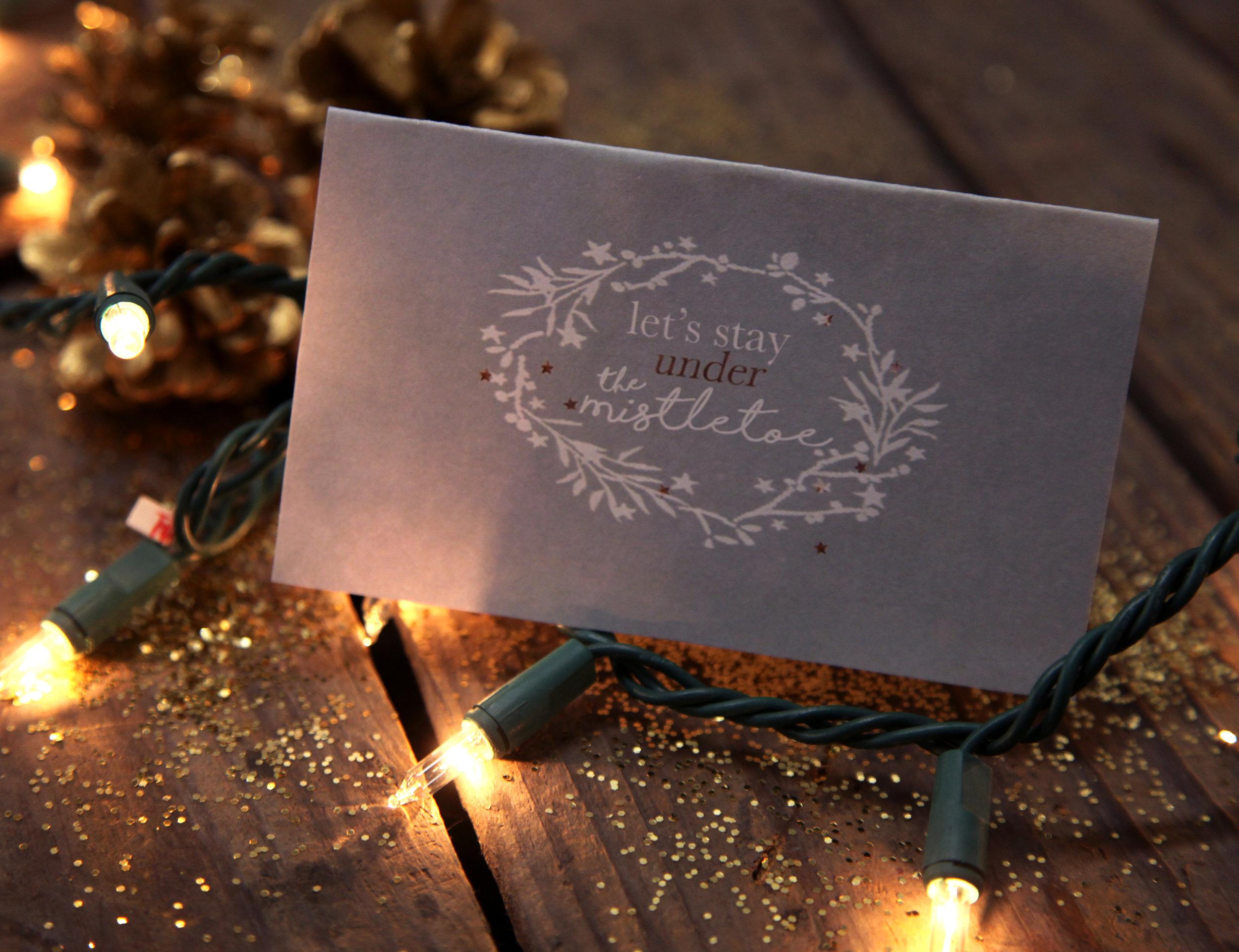 """""""Mistletoe"""" Card Download"""
