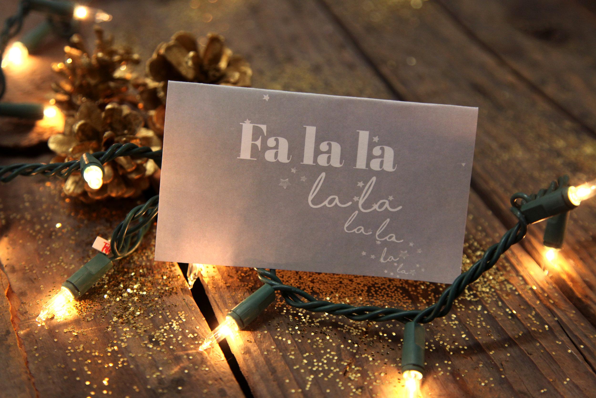 """""""Fa La La"""" Card Download"""
