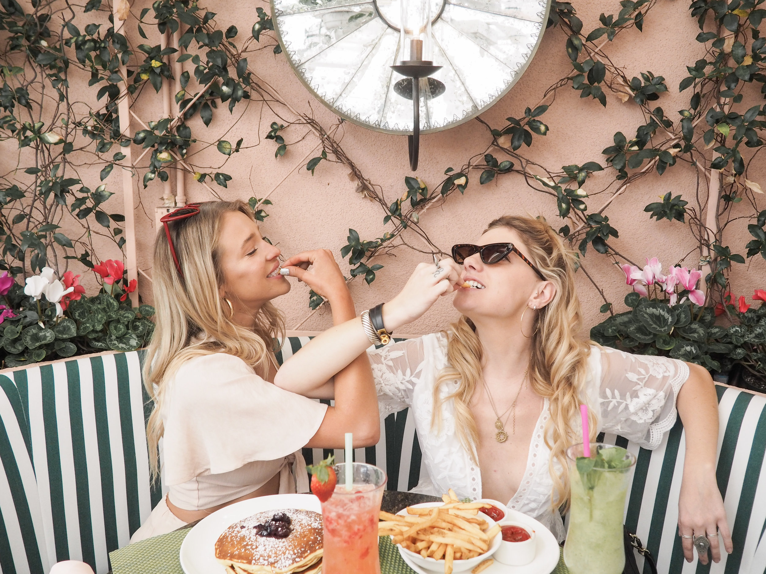 Finally, treat yourself to a nice meal. Take yourself to a restaurant you've always wanted someone else to take you to, order the pancakes WITH a side of fries, drink Mimosas with the gals and go around telling each other all of your favorite things about each other.