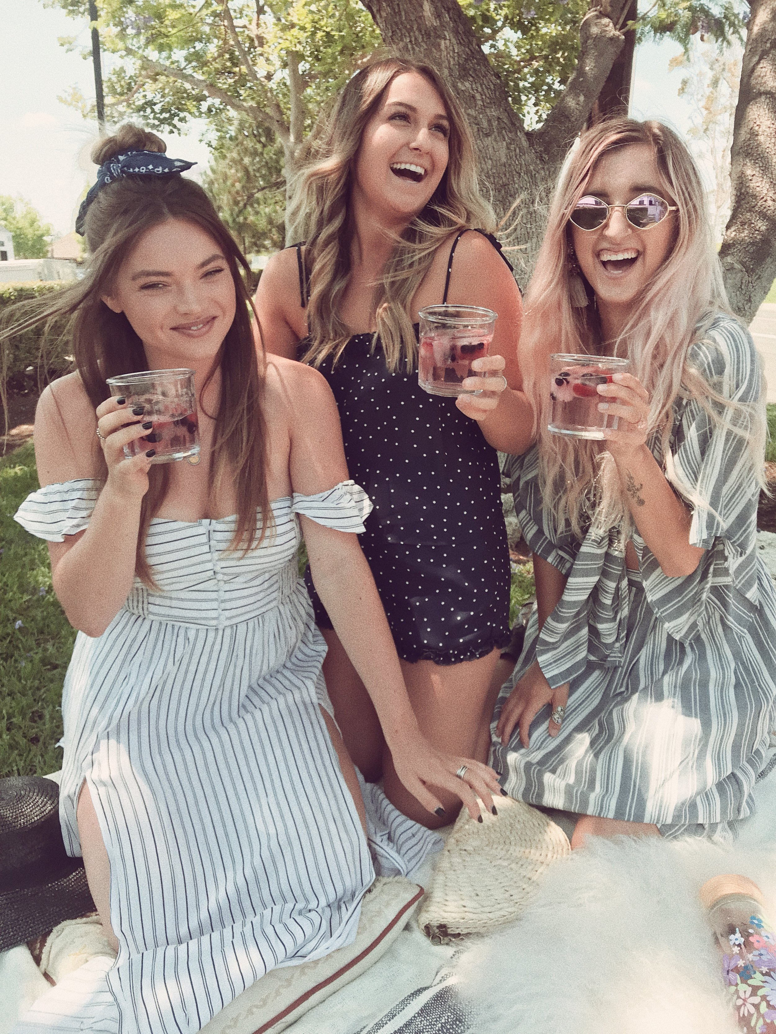 shop our looks here:  Reese Striped Maxi Romper   /  Best Feeling Polka Dot Set   /  American Summer Striped Set
