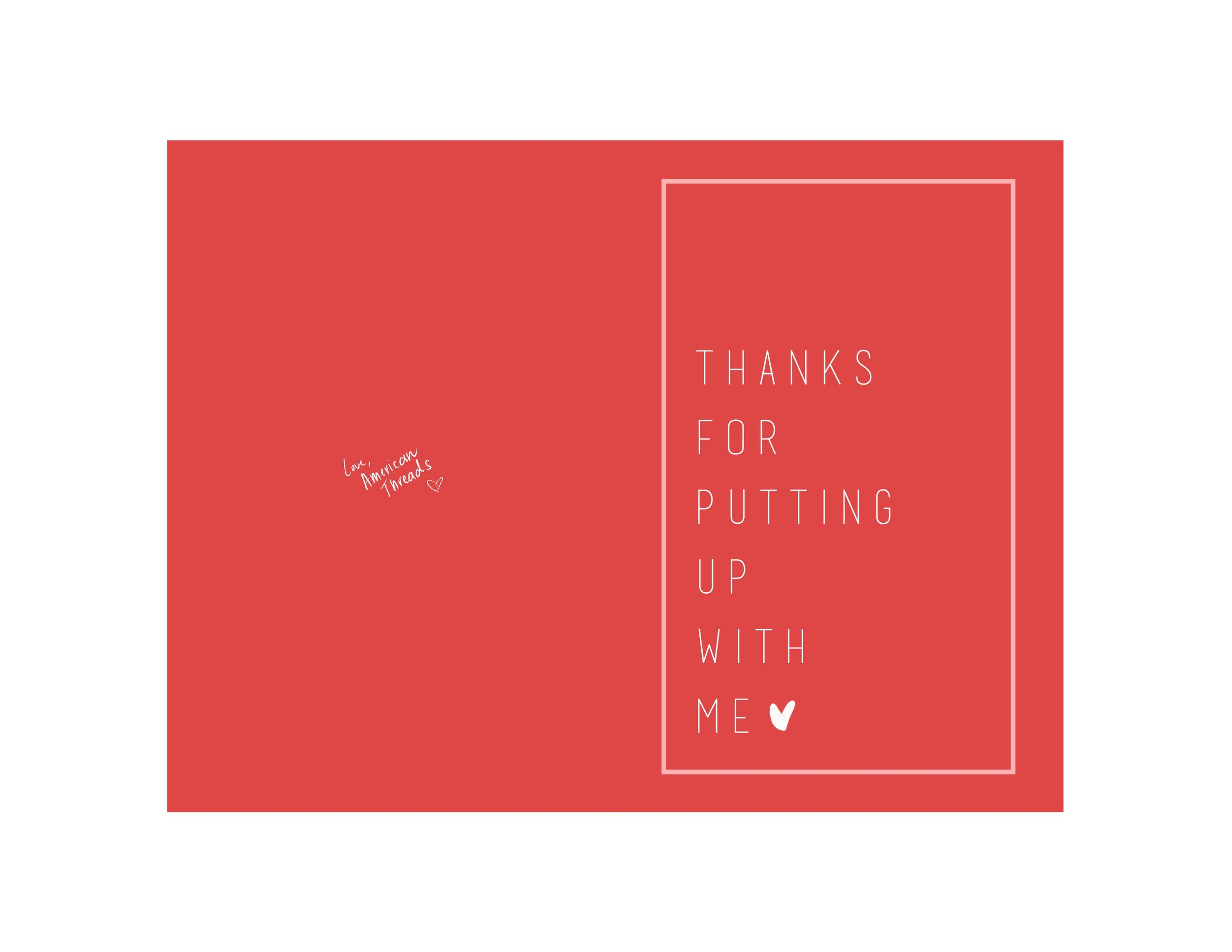 """Thanks For Putting Up With Me"" // Click here to download!"