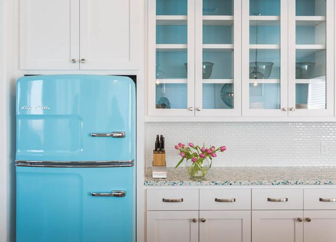 Floating Blue Kitchen Counter