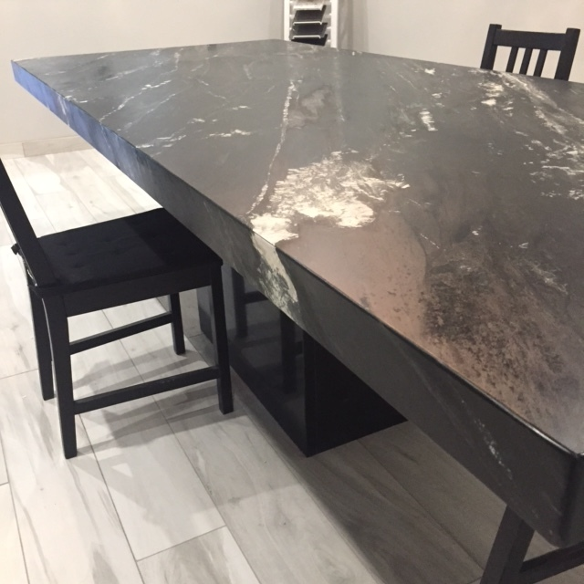 """Noire Table Top with 4"""" Mitered Edge"""