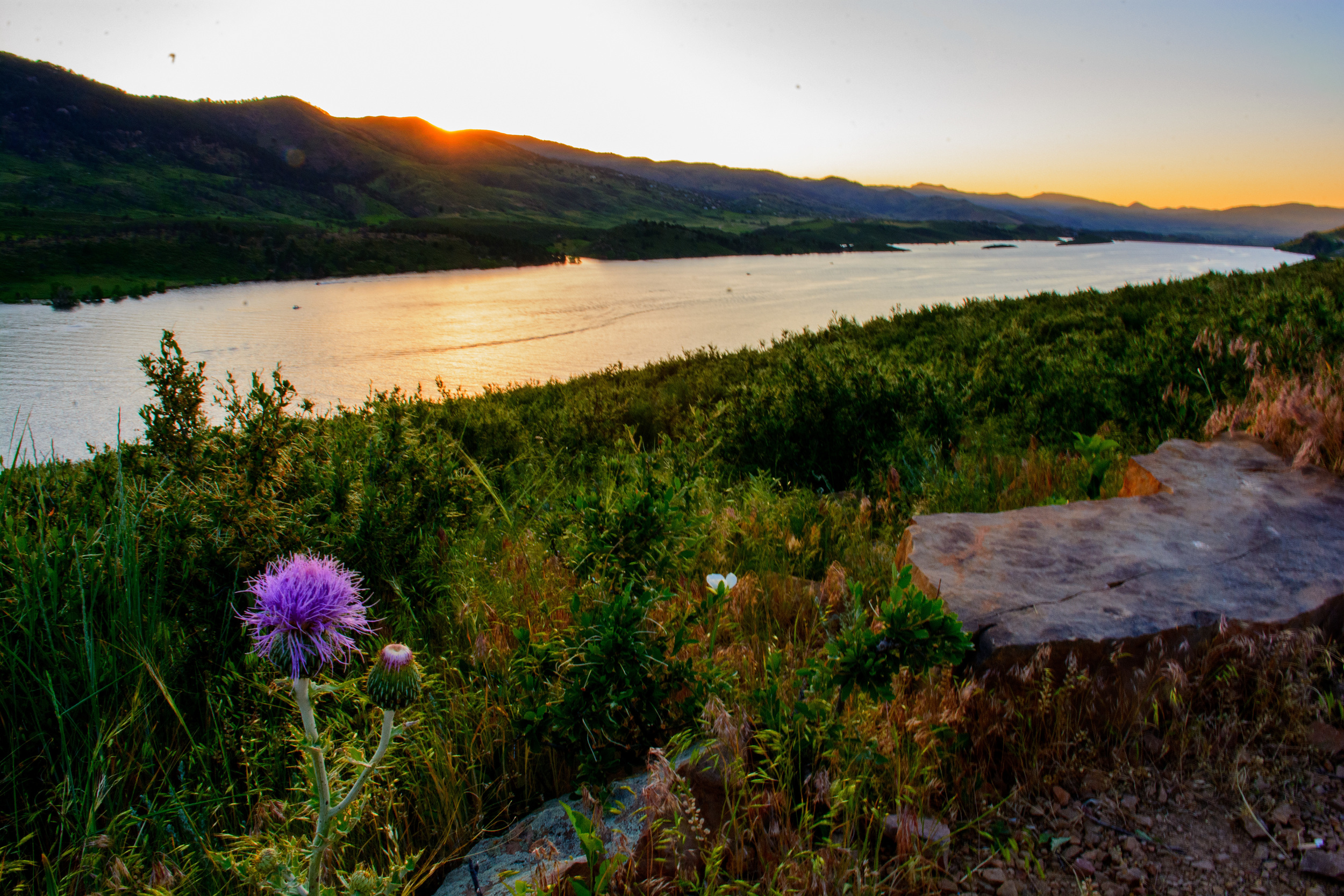 6-14 Photo: Overlooking Horsetooth Reservoir, Fort Collins CO